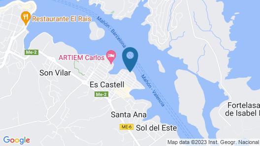 Barceló Hamilton Menorca - Adults Only Map