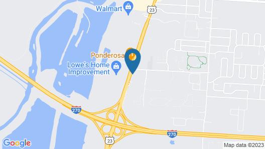 Kozy Inn Columbus Map