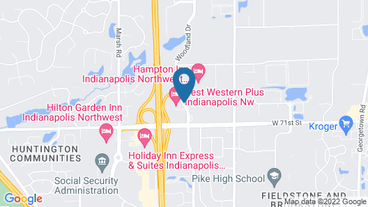 Best Western Plus Indianapolis NW Hotel Map