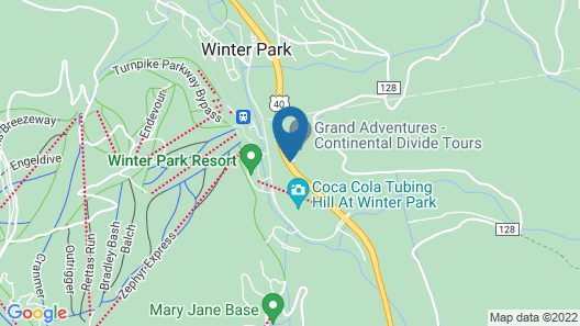 Winter Park Mountain Lodge Map