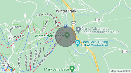 Zephyr Mountain Lodge/slope Side Bldg True Ski/bike in/ out With Patio Walk out Map