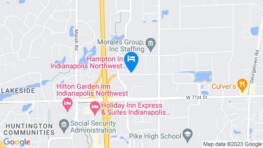 Hampton Inn Indianapolis Northwest - Park 100 Map