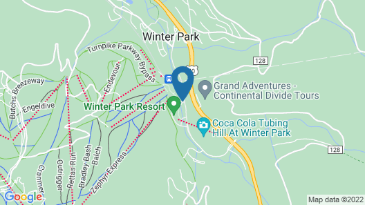 Zephyr Mountain Lodge Map
