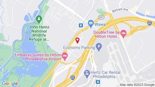 Hampton Inn Philadelphia Airport Map