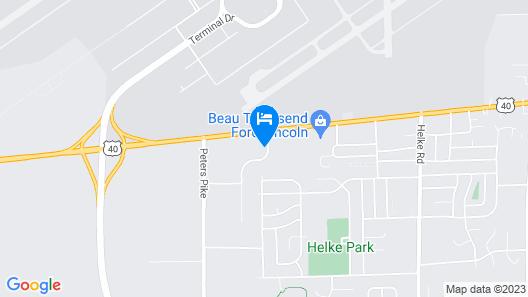 Airport Inn and Parking/Dayton International Airport Map