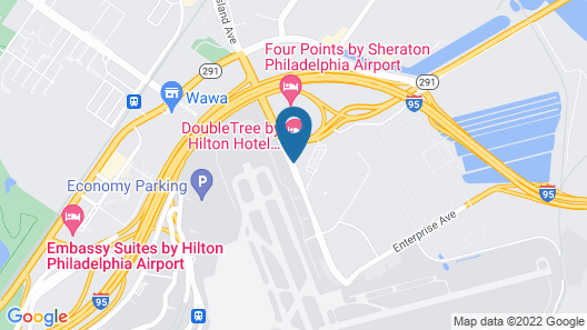 Doubletree by Hilton Philadelphia Airport Map