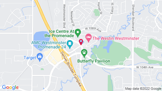 The Westin Westminster Map