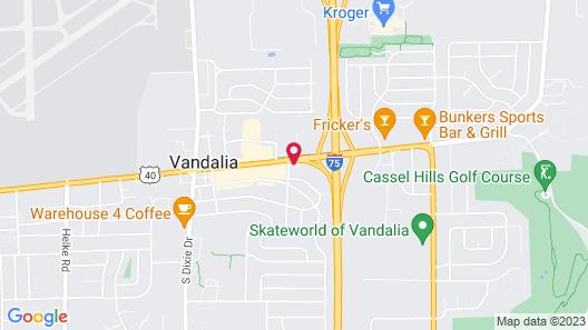 Super 8 by Wyndham Vandalia/Dayton International Airport Map