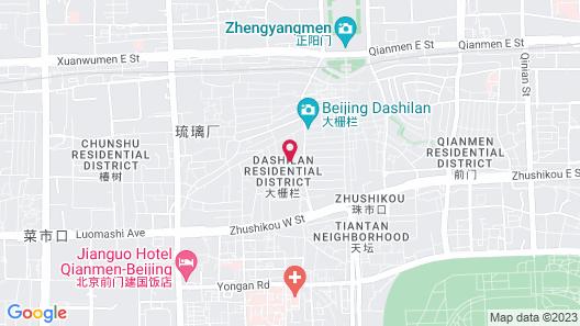 ManXin Qianmen Courtyard Hotel Map