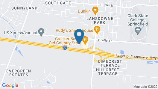 Holiday Inn Express & Suites Springfield - Dayton Area Map