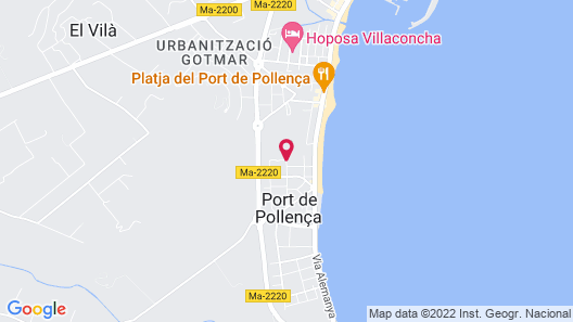 Aparthotel Bahia Pollensa Map