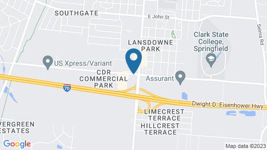 Motel 6 Springfield, OH Map