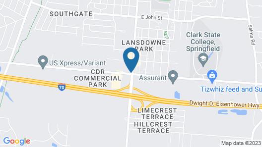 Super 8 Motel - Springfield Map