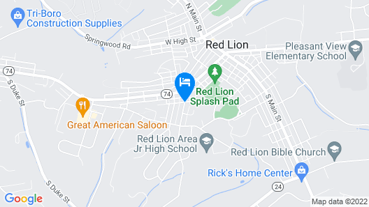 Red Lion Bed & Breakfast Map
