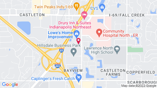 Extended Stay America Suites Indianapolis Castleton Map