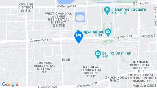 Layering Courtyard Hutel Qianmen Map