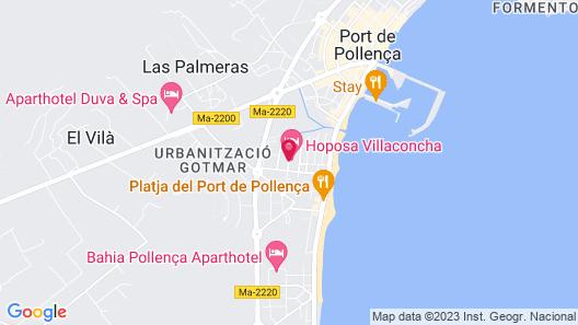 Hoposa Hotel & Apartments Villaconcha Map