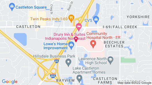 Red Roof Inn Indianapolis - Castleton Map