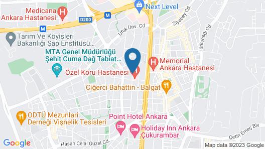 The Green Park Ankara Map