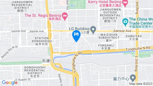Atour Light Hotel Jianguomen Beijing Map