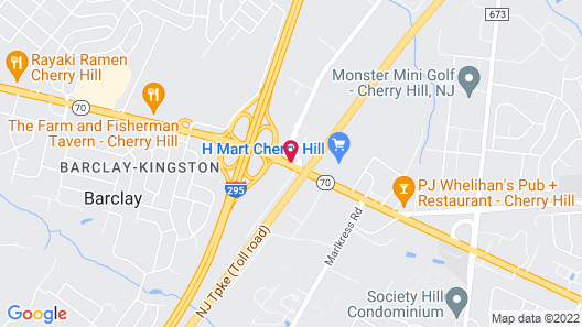 Extended Stay America Suites Philadelphia Cherry Hill Map
