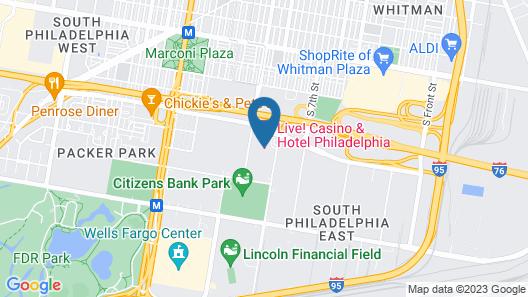 Live Casino & Hotel - Philadelphia Map