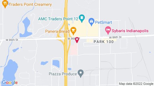 Extended Stay America - Indianapolis - West 86th St. Map