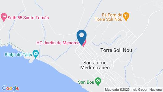 Aparthotel HG Jardin de Menorca Map