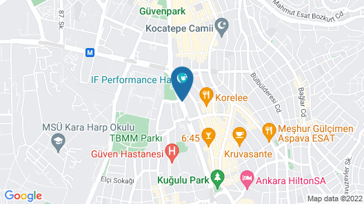 Grand Ankara Hotel & Convention Center Map