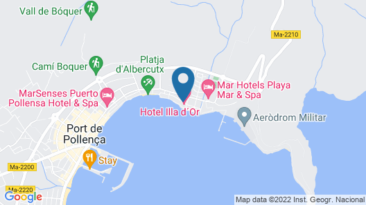 Hotel Illa D'Or Map