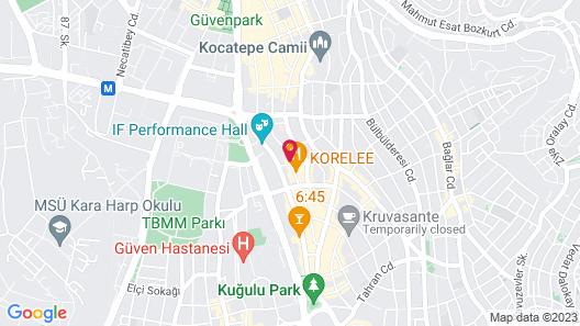 Ankara Plaza Hotel Map