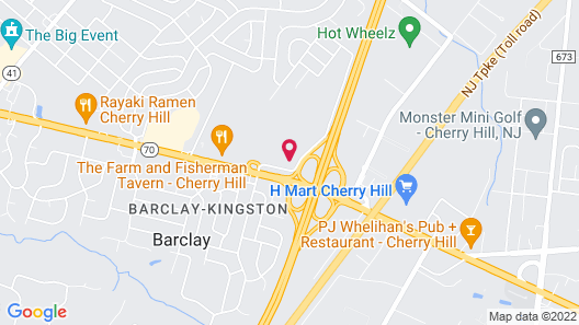 WoodSpring Suites Cherry Hill Map
