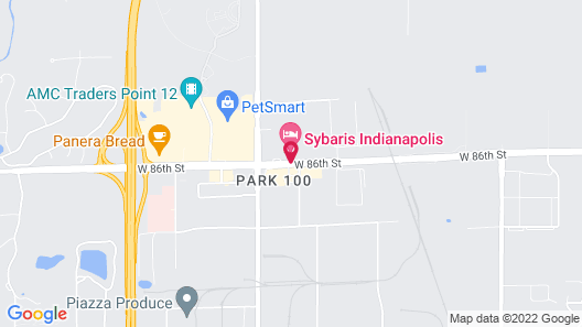 Sybaris Pool Suites Indianapolis Map