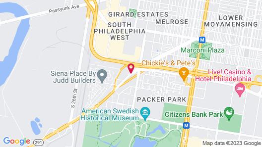 Penrose Hotel Philadelphia Map