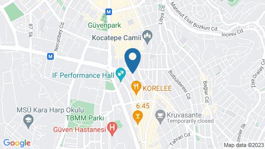 Latanya Hotel Ankara Map