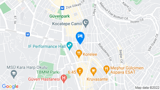 The Wings Hotels Neva Palas Map