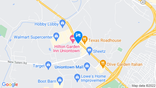 Super 8 by Wyndham Uniontown PA- NEWLY RENOVATED Map