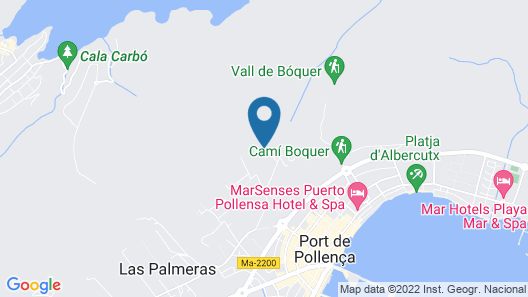 Port de Pollenca Villa, Sleeps 6 With Pool, Air Con and Wifi Map