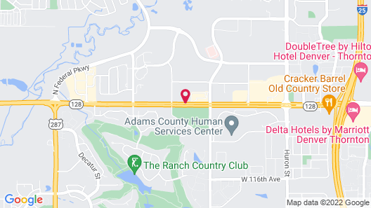 Uptown Suites Extended Stay Denver CO – Westminster Map