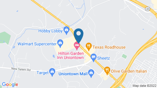 Hampton Inn Uniontown Map