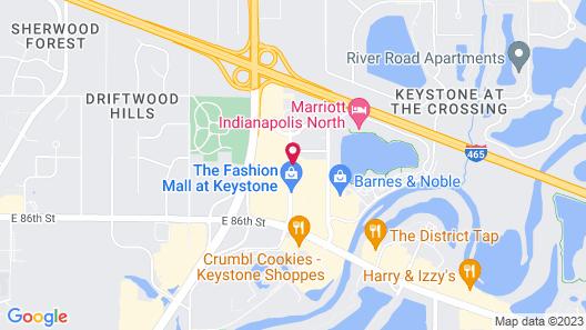 Sheraton Indianapolis Hotel at Keystone Crossing Map