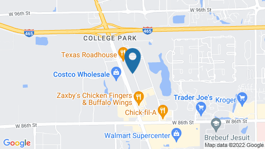 Extended Stay America Suites Indianapolis NW College Park Map