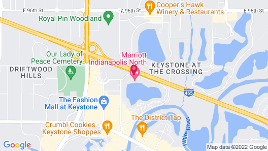 Marriott Indianapolis North Map