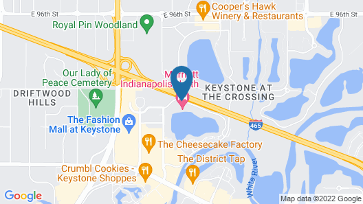 Marriott Indianapolis North Map