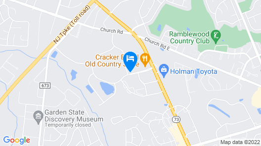 Hilton Garden Inn Mt. Laurel Map