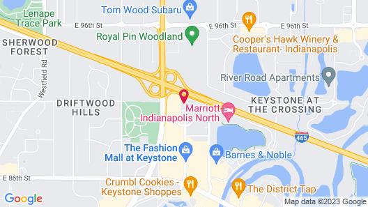 Hyatt Place Indianapolis/Keystone Map
