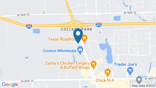 Motel 6 Indianapolis, IN Map