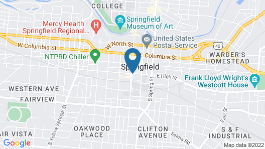 Courtyard by Marriott Springfield Downtown Map