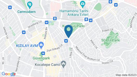 Ankara Princess Otel Map