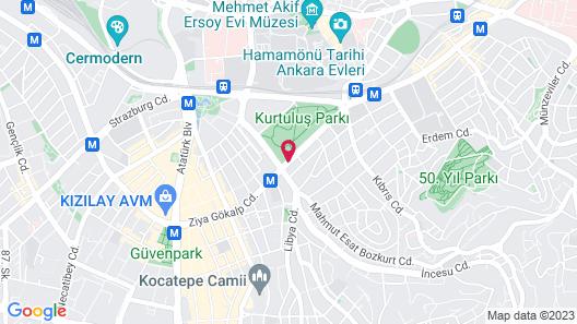 New Park Hotel Ankara Map